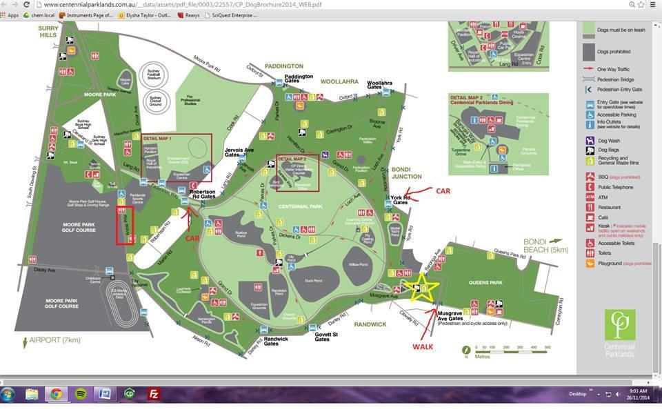 ECSA Sydney Xmas Party Map